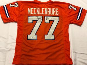 Details about Karl Mecklenburg Signed Broncos Jersey Inscribed