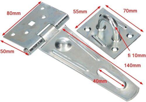 Überfalle Überwurf Riegel Sicherheits Türriegel Torriegel Verzinkt Silber 140mm