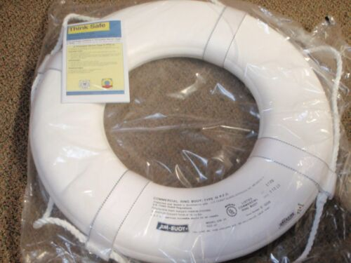 """LIFE RING BUOY 19/"""" 58 G19 WHITE USCG APPROVED BOAT SAFETY BOATINGMALL"""