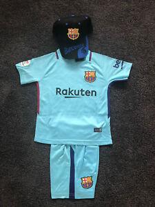 5a7b656c7 New 2018 Kids Soccer Jersey away kit  10 Messi Barcelona Set Top+ ...