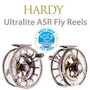 Hardy Ultralite ASR 6000  6 7 WT. Fly Fishing Reel +2 casetes, Gratis  85 línea