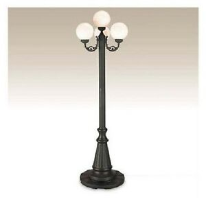 outdoor lamp post lighting fixture 4 light globe porch lantern patio. Black Bedroom Furniture Sets. Home Design Ideas