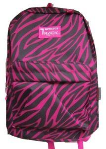 PINK ZEBRA Backpack School Pack Bag 205 Back Pack Free Shipping ...