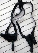 Black Leather Horizontal Shoulder Holster for Glock (P3)