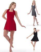 Simplicity Dance Costume Black,red,grey Tap Dress-trunks Ballet Cm,cl,cxl,as,al
