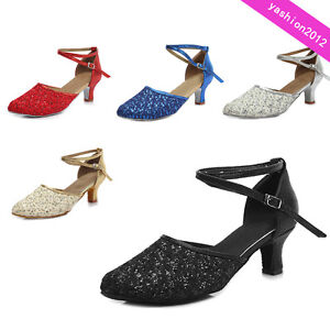 Professional-Ballroom-Latin-Tango-Dance-Shoes-Heeled-Salsa-For-Women-Dancing