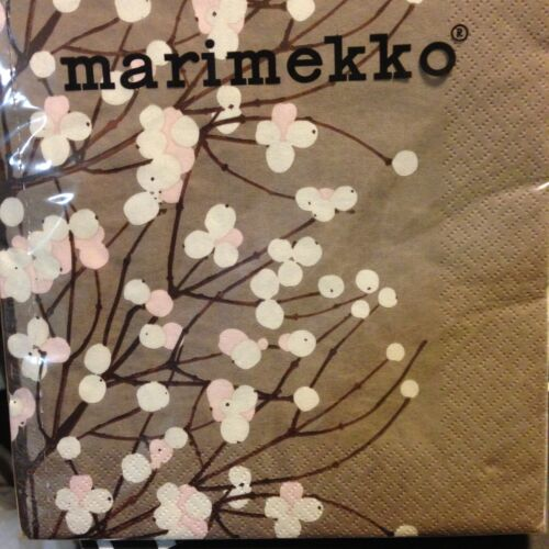 Lumimarja beige white pink Finland Erja Hirvi Marimekko paper napkins 24x24cm