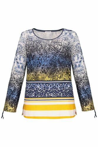 Gina Laura shirt Relaxed avec cordon coulissant et bande le Manche Multicolore Neuf