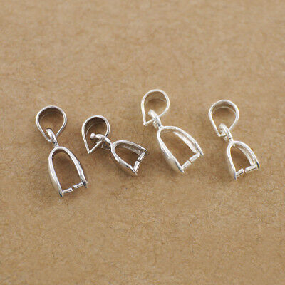 Solid Sterling Silver 925 Pendant Bail Pin Holder Connector  1-100 pc