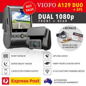 Viofo-A129-DUO-Dual-Lens-Dash-Camera-1080P-GPS-WIFI-5Ghz-HW-KIT-amp-64GB-mSD