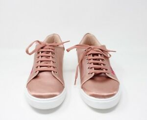 Details about TOPSHOP Camilla Women's Embroidered Flowers Sneaker Nude COLOR Size 10.5
