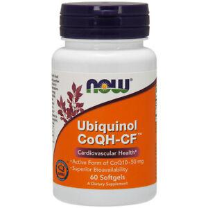 Ubiquinol-Coqh-Cf-50mg-X60-Gelules-Coqh-Statines-Coq10-Now-Foods
