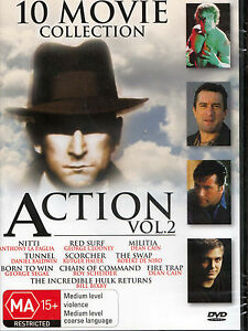 Details about 10 MOVIE COLLECTION Action Vol  2 DVD Region Free - New /  Sealed