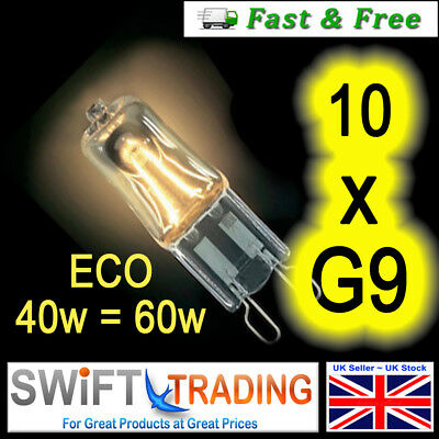 10x G9 18w=25w E-LUX DIMMABLE ECO HALOGEN ENERGY SAVING bulbs Capsule 240V