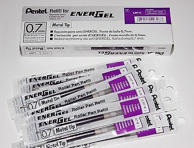 12 pcs Pentel Energel  Refill 0.7mm VIOLET (PURPLE) color  one dozen in box