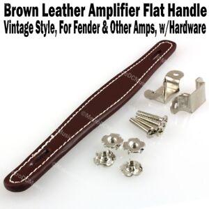 Brown-Vintage-Flat-Leather-Amplifier-Handle-for-Fender-amp-Other-Amp-Hardware-NEW