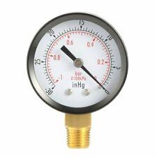2in 0 To 60 Psi Vacuum Pressure Gauge 14 Npt Lower Mount Stainless Steel Case