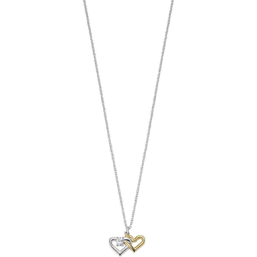 Collana women MORELLATO CUORI SAIV23 silver 925% gold Dorato Swarovski Pietre