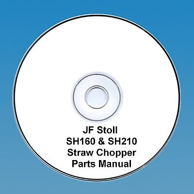 Tractor Manuals & Publications 100% Quality Jf Stoll Sh160 & Sh210 Straw Chopper Parts Manual