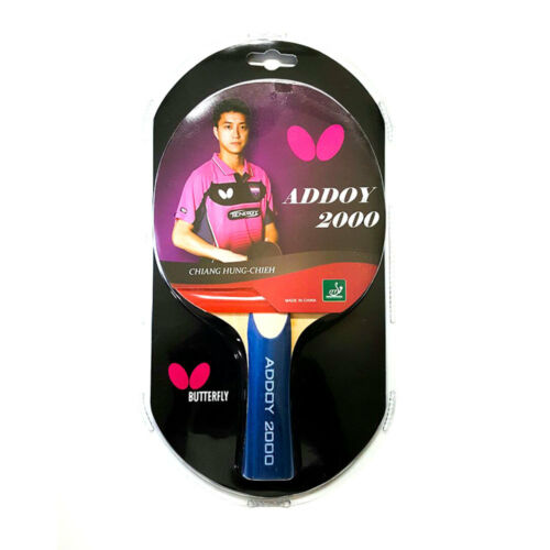 Addoy 2000 Butterfly Table Tennis Bat with Rubber