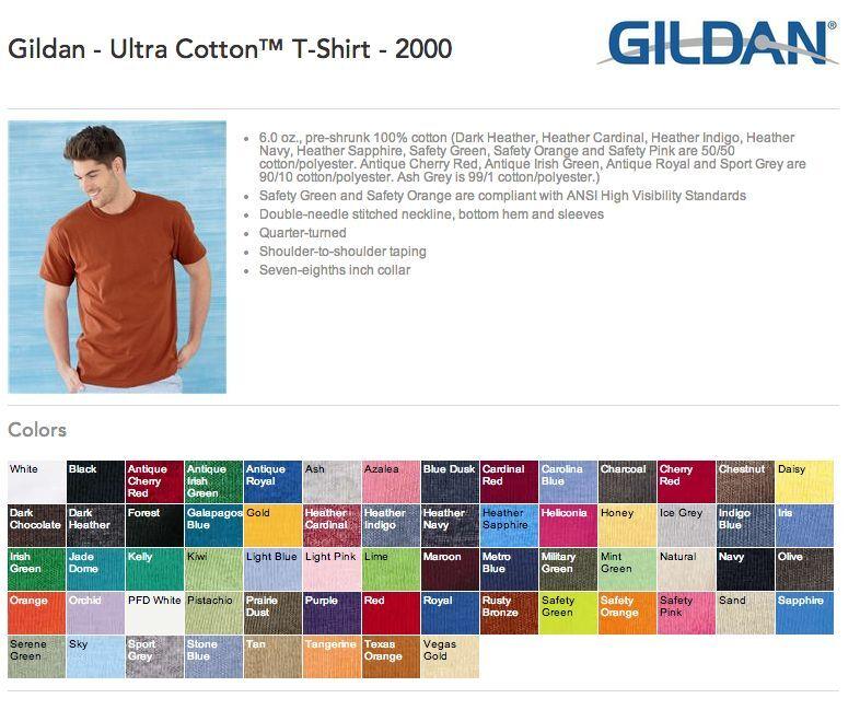 30 Blank Gildan Ultra Cotton T-Shirt Wholesale Bulk Lot ok to mix S-XL & Farbes