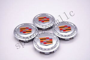 Chrome Color Center Caps Cadillac Escalade 2007-2013 ESV EXT 9595891 4pcs 83mm