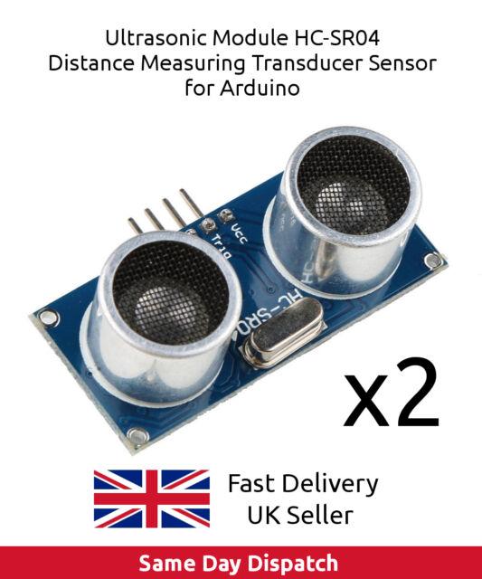 2x Ultrasonic Module HC-SR04 Distance Measuring Transducer Sensor for Arduino UK