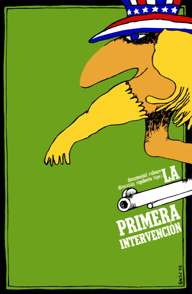 4347.La primera intervencion.uncle sam.Movie.POSTER.Decoration.Fine Graphic Kunst