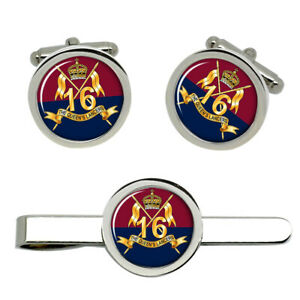 16th-Queen-039-s-Lancers-British-Army-Cufflinks-and-Tie-Clip-Set