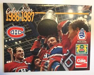 MONTREAL-CANADIENS-CALENDRIER-1986-1987-HOCKEY-TEAM-STANLEY-CUP