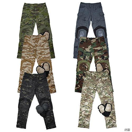 Tactical Men G3 Military Airsoft Combat Pants Camp Trousers + Knee Pads TMC2901