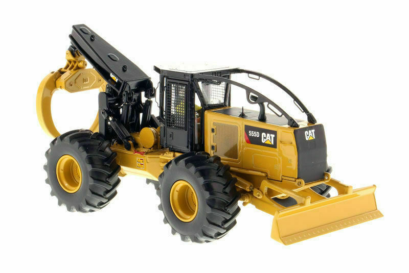 CAT 555D 1 50 Caterpillar Wheel Skidder Yellow Diecast Engineering Engineering Engineering Vehicle Toy ffc949