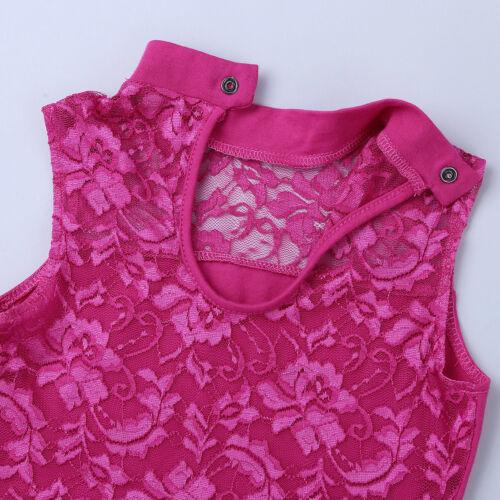 Girls Gymnastics Ballet Dance Dress Toddler Leotard Tutu Skirt Dancewear Costume