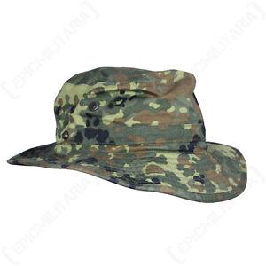Original-German-Army-Flecktarn-Boonie-Cap-Bush-Sun-Floppy-Hat-Military-Army