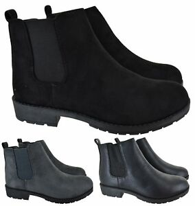 LADIES-WOMENS-CHELSEA-DEALER-SLIP-ON-FLAT-ANKLE-CAUSAL-LOW-HEEL-SHOES-BOOTS-SIZE