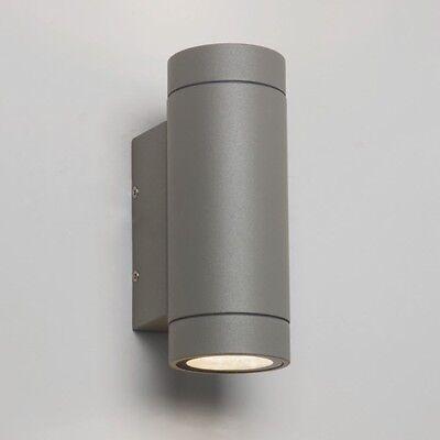 Intelligente Astro Dartmouth Ip54 Cilindrico Outdoor Luci Muro Fino Giù 6x1w Led Argento-