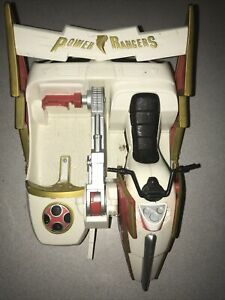Bandai 2002 White Power Rangers Motorcycle With Sidecar