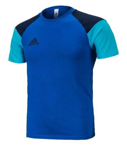 Adidas Men Condivo 16 Jersey Shirts Football Soccer White Red Blue Shirt GYM