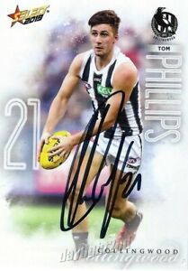 Signed-2019-COLLINGWOOD-MAGPIES-AFL-Card-TOM-PHILLIPS