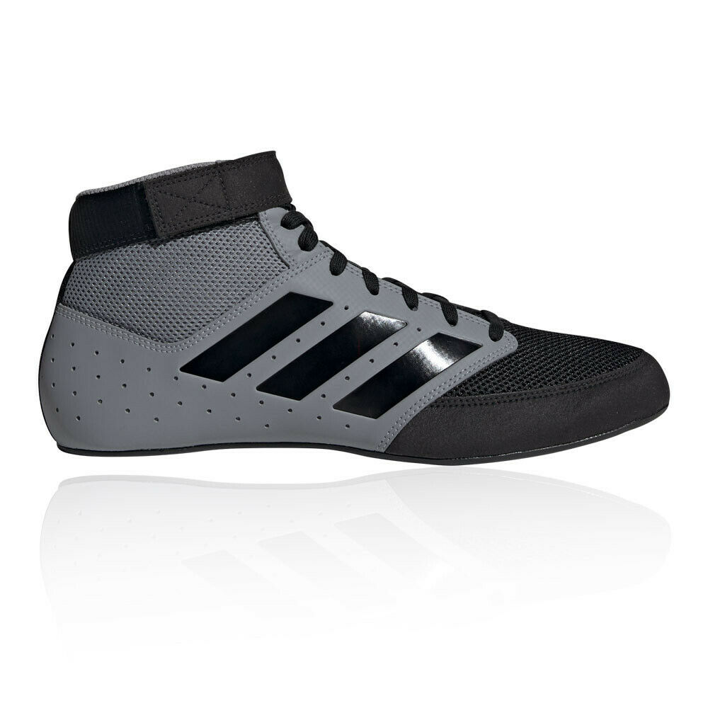 Adidas Herren Mat Hog 2.0 Boxschuhe Trainingsschuhe Boxerstiefel Schwarz Grau