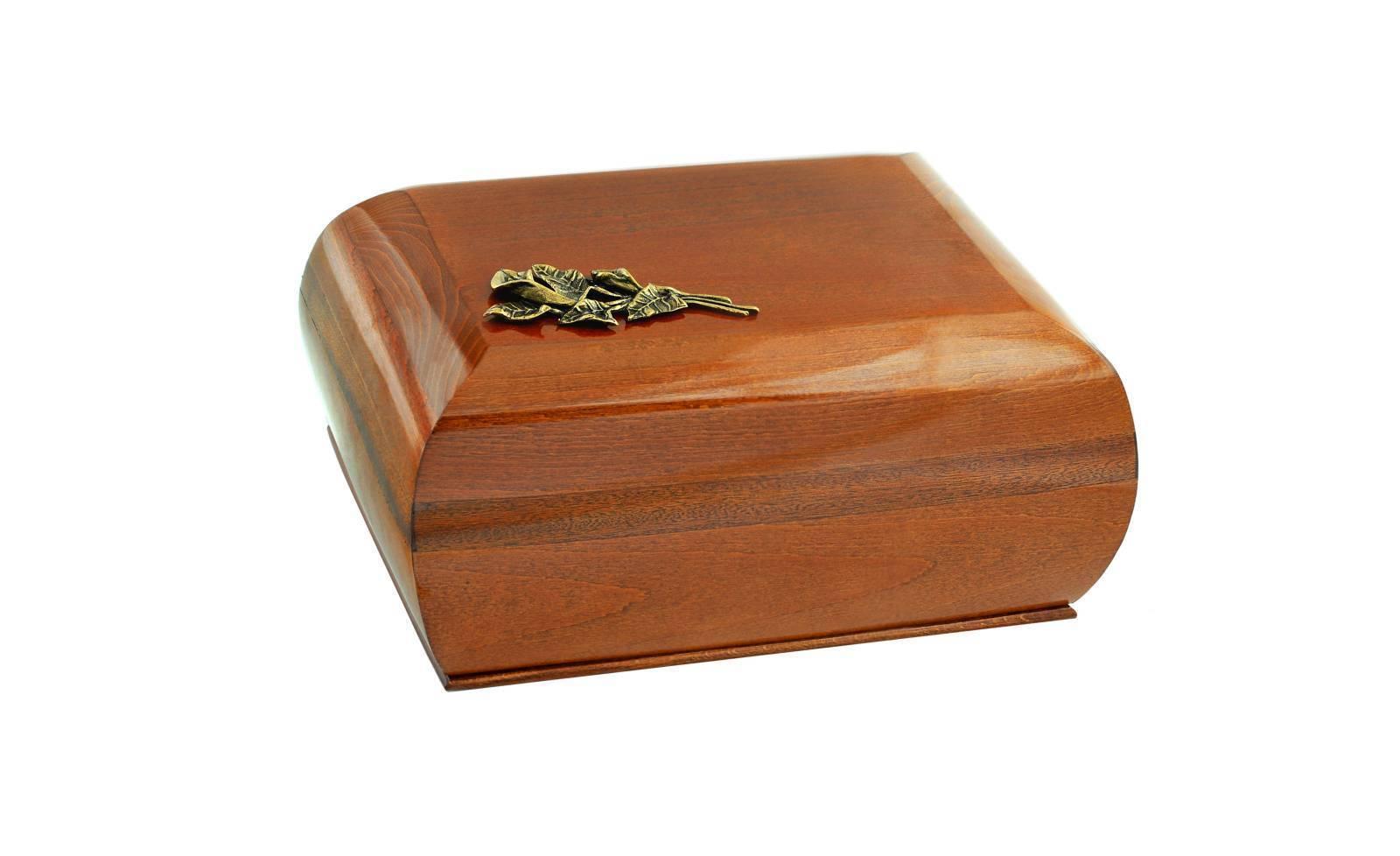 Bois Cercueil en laiton Calla lily.funeral Urne pour cendres Mémorial