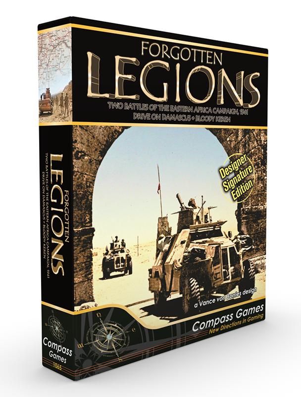 Oublié Légions - Deux Battles Of The Eastern Afrique Campagne - Compass Games