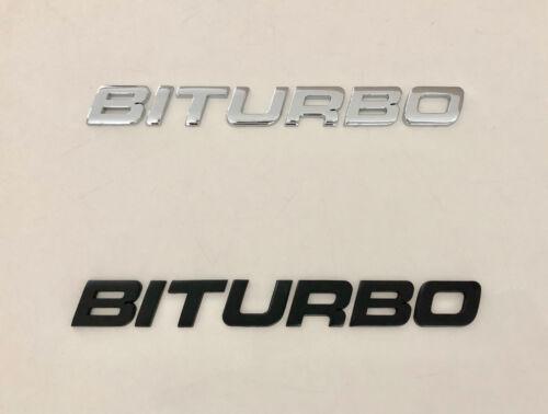 1x BITURBO Black Chrome 3D Emblem Badge Alphabet Letter number Car DIY name word