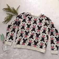 DISNEY Mickey Mouse Sweatshirt Womens Medium British Flag UK FOREVER 21 Top NWT