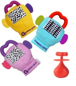 Gummee Glove BABY Molar Mallet or teething ring mitten YELLOW BLUE ... 4a7cccfb332