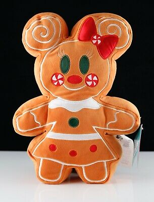 """New Disney Mickey /& Minnie Mouse Gingerbread Scented Christmas 12/"""" Plush Set"""
