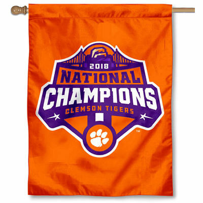 Clemson Tigers 2016 National Champions Double Sided Flag College Flags and Banners Co