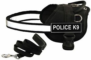 Dean-amp-Tyler-DT-Works-Nylon-Dog-Harness-w-Patches-Matching-Padded-Puppy-Leash