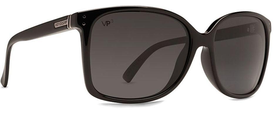 eff001ca351 Buy VonZipper Castaway Polarized Square Sunglasses Black Gloss Grey   Poly  online