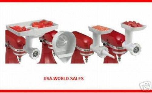 KitchenAid KN12AP Stand-Mixer Attachment Food Grinder, Sausage Stuffer, Juicer